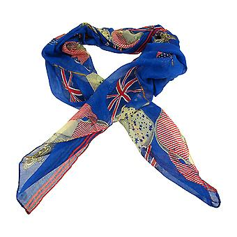 Lightweight Gauze US/UK Flags Pirate Fashion Scarf