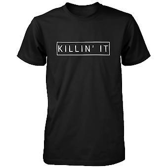 Killin ' det roliga grafiska skjorta trendig svart T-shirt söt Kortärmad Tee