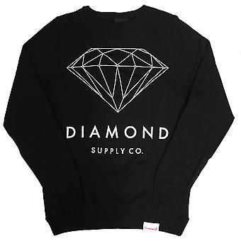 Diamond Supply Co brillanten Sweatshirt schwarz