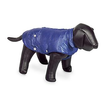 Nobby Danika Dog Coat Blue With Silver Dots 44cm