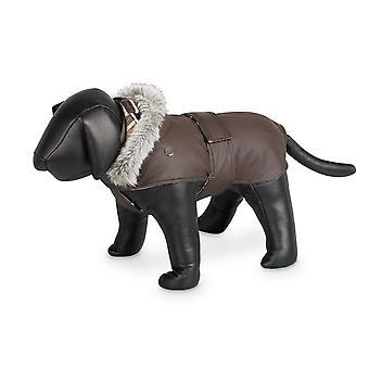 Nobby Marian Dog Coat Brown With Hood 26cm