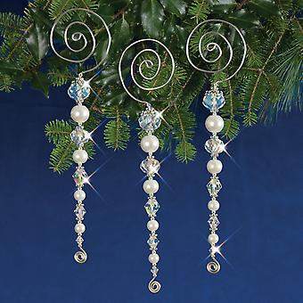 Holiday Beaded Ornament Kit-Vintage Icicles Makes 3 HBOK-47397