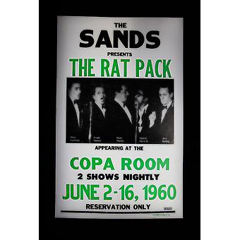 The Rat Pack Retro Concert Poster