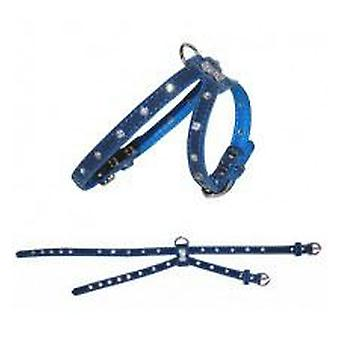 Yagu Leather Velvet Harness C / Diamonds Blue