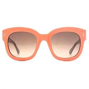 Stella McCartney Essentials Bold Square Sunglasses In Peach Pollock