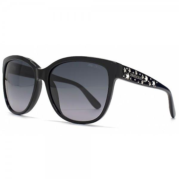 Jimmy Choo Chanty Sunglasses In Shiny Black