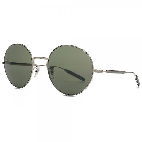 Paul Smith Clarefield Round Sunglasses In Brushed Silver Grey
