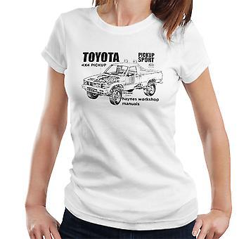 Haynes Workshop handmatige Toyota Sport 4 x 4 Black Women's T-Shirt