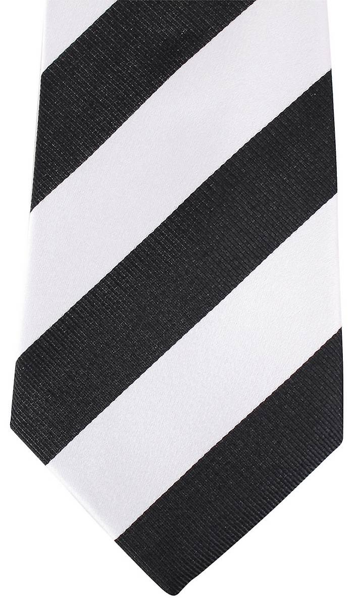 David Van Hagen Thick Striped Tie - Black/White