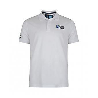 England RWC 2015 No 8 Plain Polo Shirt (White)
