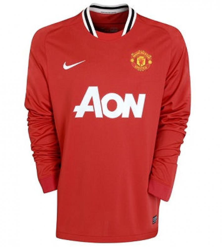 2011-12 Man Utd Home Long Sleeve Shirt (Kids)