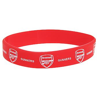 Arsenal FC Official Single Rubber Football Crest Wristband