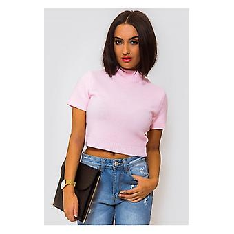 The Fashion Bible Binky Pink Cropped Boxy Jumper