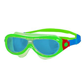 Zoggs Phantom Kids Swim Mask 0-6yrs- Blue Lens - Green Frame