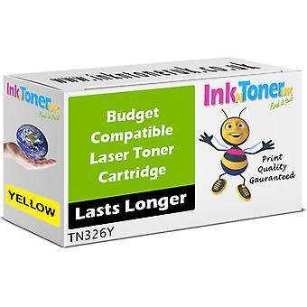 Verdien kompatibel for Brother TN-326Y gul tonerkassett med høy kapasitet (TN326Y)