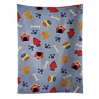 Carolines Treasures  BB3942KTWL Pomeranian Dog House Collection Kitchen Towel