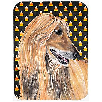 Afghan Hound Candy Corn Halloween Mouse Pad, Hot Pad or Trivet