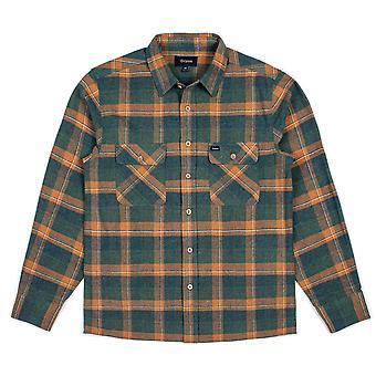 Brixton Archie langærmet Flannel skjorte grøn Plaid