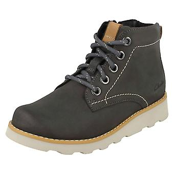 Boys Clarks Casual Boots Dexy Top