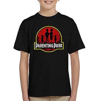 Jurassic Park Mix Parenting Park Kid's T-Shirt