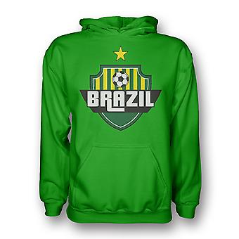 Brasilien land Logo hættetrøje (grøn) - børn