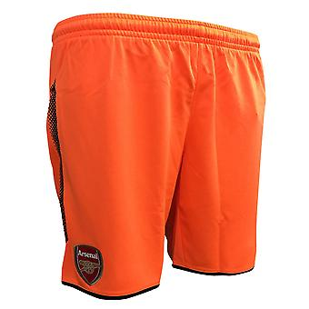 2017-2018 Arsenal Away Goalkeeper Shorts (Orange)