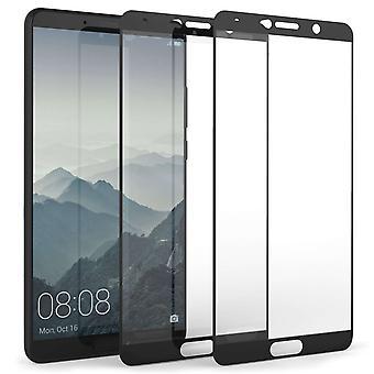 Huawei Mate 10 Tempered Glass Screen Protector Black Edge - Twin Pack