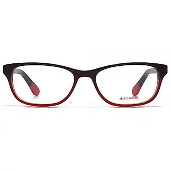 Accessorize Glam Rectangle Glasses In Red