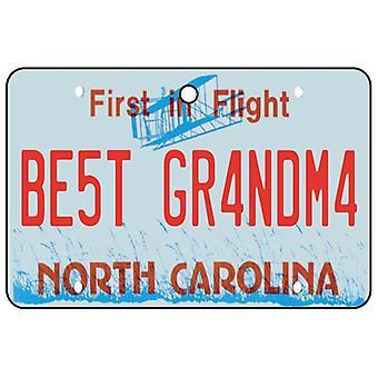 Carolina del norte - el mejor abuela licencia placa ambientador