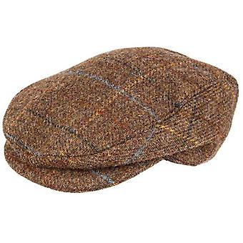Dents Abraham Moon Yorkshire Tweed Flat Cap - Chestnut Brown