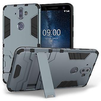 Caseflex Nokia 9 Rüstung Kickstand Case - stahlblau