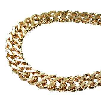 Bracelet double rombo chain gold plated