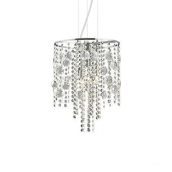 Ideal Lux Evasione Elegant Chrome och Crystal Diamante hänge 4 taklampa