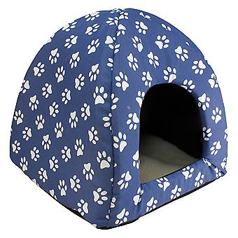 Arquivet Iglu for Dogs and Cats Model Huellas Azules