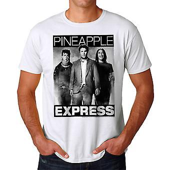 Pineapple Express BW plakat mænds hvid T-shirt