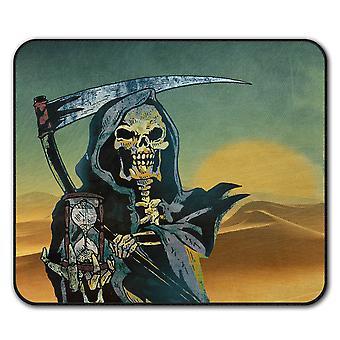 Tapis anti-dérapant Reaper mort Skull le temps coussin de 24 x 20 cm | Wellcoda