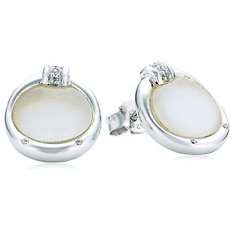 Orphelia srebro 925 kolczyki cyrkon biały Cateye ZO-5901