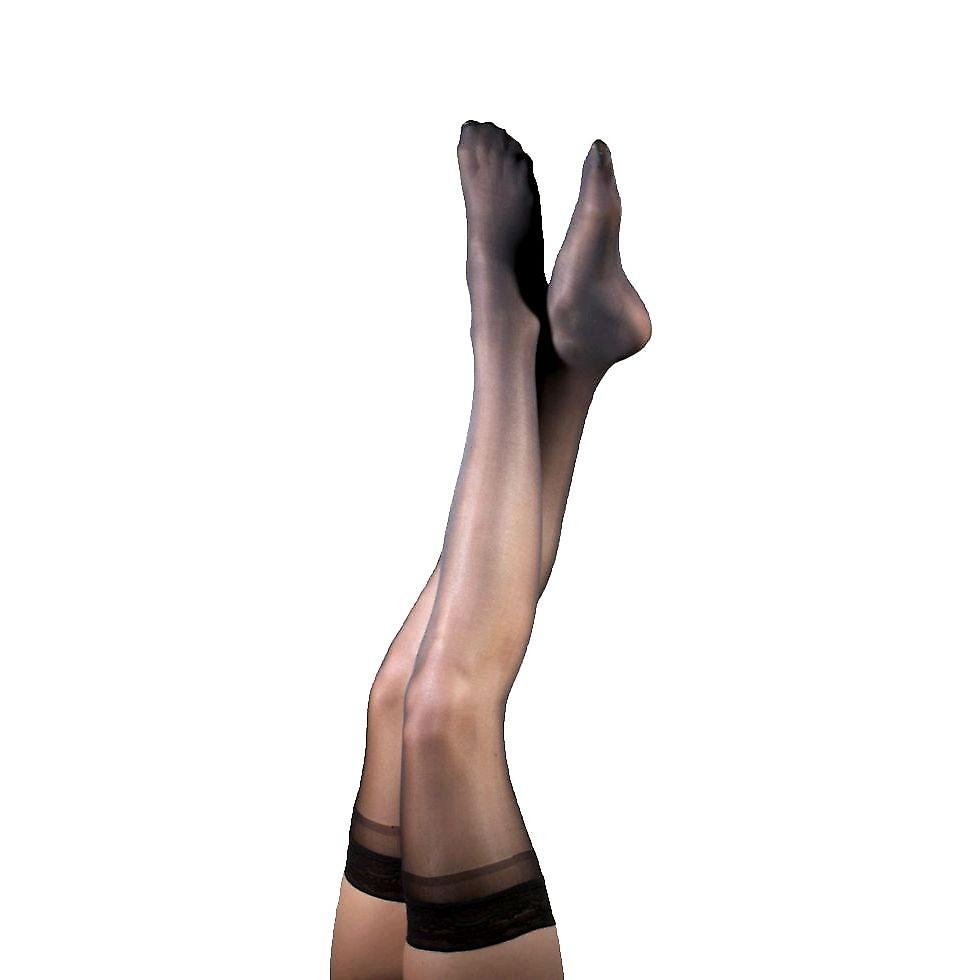 Pebble UK Sheer Mild Support Thigh Highs [Style P74] Natural  S