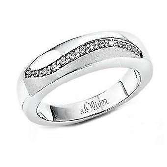 s.Oliver jewel ladies ring silver cubic zirconia SO557
