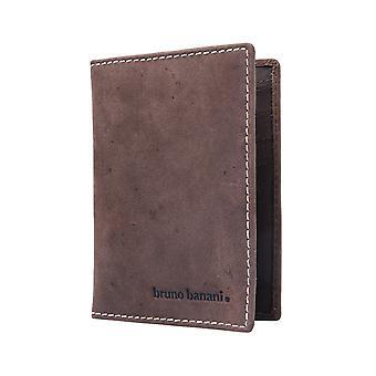 Bruno banani credit card holder, card case suede Brown 946