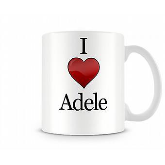 Jag älskar Adele tryckta mugg