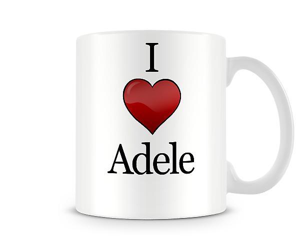 Me encanta Adele taza impresa