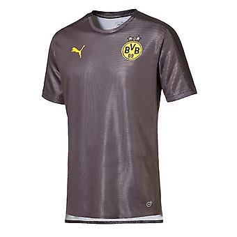 2018-2019 Borussia Dortmund Puma Stadium skjorte (asfalt)