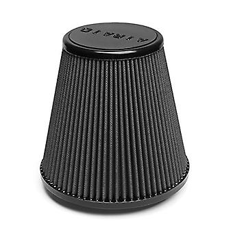 Airaid 702-445 Universal Clamp-On Air Filter: Round conico; 4,5 pollici (114 mm) flangia ID; 7.5 in (191 mm) altezza; 8 in (20