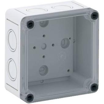 Build-in casing 94 x 94 x 57 Polycarbonate (PC) Light grey Spel