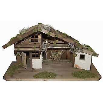 Crib Nativity stable wood crib SALOMON wood hand work for characters up to 13 cm