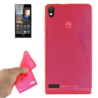華為アセンド P6 ピンクのモバイル ケース TPU ケース