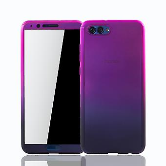Huawei honor vista 10 telefone celular caso tampa protetora da caixa tanque proteção vidro rosa / violeta