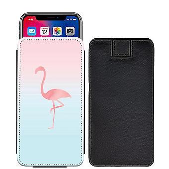 Flamingo speziell bedruckte Pull Tab Tasche Telefon Gehäusedeckel für Motorola Moto X 4 [S] - F08_web
