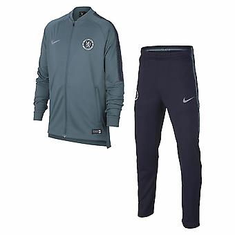2018-2019 Chelsea Nike Dry Tracksuit (Teal) - Kids